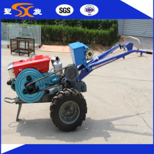 Two Wheels Electronic Start Mini Garden Hand Tiller Tractor pictures & photos