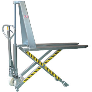 Stainless Steel Manual Hydraulic Scissor Pallet Truck pictures & photos