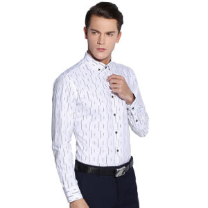 Qualitied 100% Cotton White Men Formal Business Dress Shirts pictures & photos