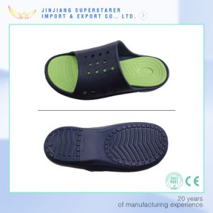 EVA Men Point Wave Sole Holey Slipper pictures & photos