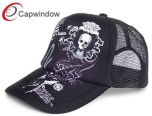 Screen Printing Logo on Trucker Hat with Mesh Cap pictures & photos