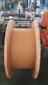 Thin Type Polyester Fiber-Glass Sintered Enamelled Rectangular Copper Wire. pictures & photos