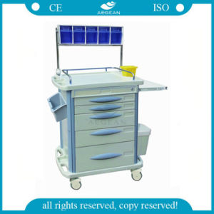 AG-At007b3 Central Locking Medical Cart ABS Anesthesia Trolley pictures & photos
