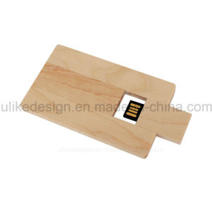 Wood USB Flash Card Promotion (UL-W022-2) pictures & photos