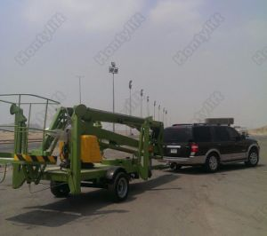 12m Trailer Mounted Diesel Hydraulic Electric Articulated Boom Lift pictures & photos