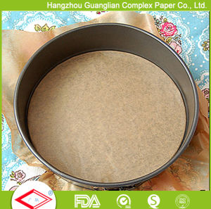 10 Inch Round Pre-Cut Non-Stick Baking Paper Cake Tin Liners pictures & photos
