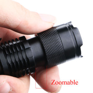 AA 14500 Q5 LED 1000lm Waterproof 5 Modes Zoomable LED Flashlight pictures & photos