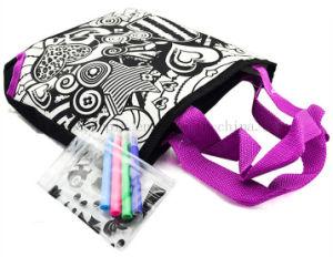 Custom DIY Nylon Scrawl Doodle Shopping Bag with Colour Pen pictures & photos