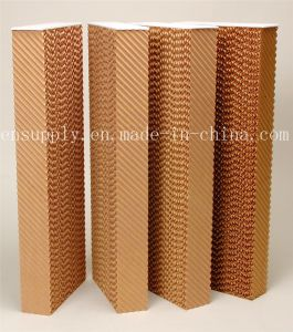 Evaporative Water Cooling Pad Industrial Brown Wet Air Cooling Pad pictures & photos