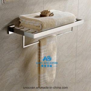 Polished Shower Shelf with Towel Rail Bath Chrome Towel Bar pictures & photos