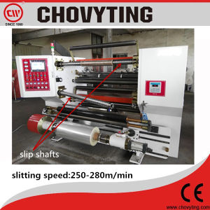 Automatic High Speed Slitter Slitting Rewinder Rewinding with Slip Shaft pictures & photos
