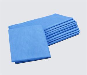 Medical Use Indigo Blue SMS Nonwoven Fabric pictures & photos
