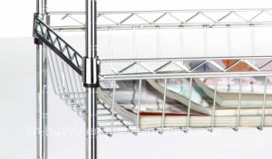 Customized Supermarket Promotion Dish Display Stand/Grocery Store Wire Mesh Kitchen Ware Display Shelf pictures & photos