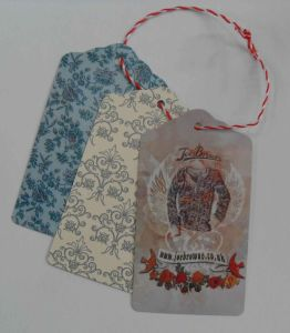 Full Printed Colours Garment Paper Hangtag pictures & photos