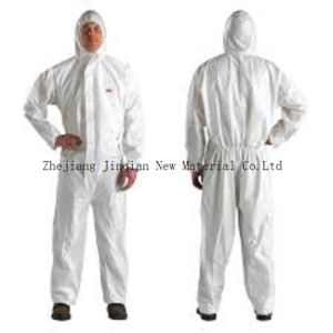 Type5&6 Protective Coverall Material S. F Microporous Nonwoven Fabric pictures & photos