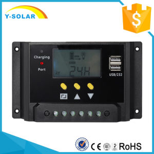 12V 24V 30A Solar Charge Controller for Solar System with LCD Display and Dual USB 5V Sm30 pictures & photos