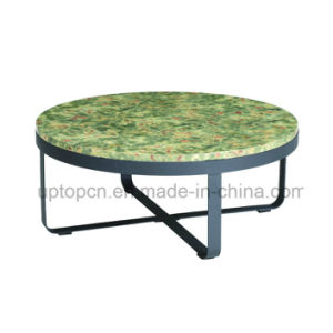 Europe Style Round Marble Restaurant Table with Cross Base (SP-GT435) pictures & photos