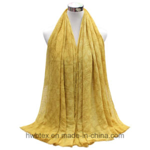 BSCI Factory Plain Color Fashion Scarf with Diamond Construction (HWBLC022) pictures & photos