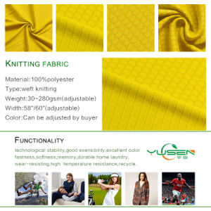 Polyester Honeycomb Jacquard Knitting Fabric pictures & photos