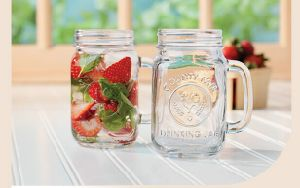 Clear Glass Bottles Glass Canning Mason Jar, Wide Mouth Jars pictures & photos