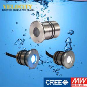 1W Waterproof CREE Multi Color Stainless Steel IP68 Aquarium Pool Light