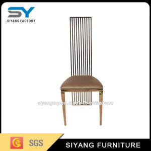 Hotel Furniture Restaurant Chair Gold Steel Chair Dining Chair pictures & photos