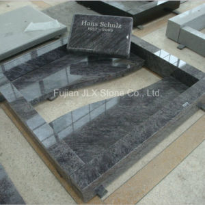 Bahama Blue Granite Flat Gravestone with Kerbs pictures & photos