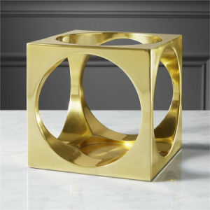 Newest Gold Metal Side Coffee Table for Villa Project (CB-123) pictures & photos