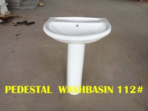 Washbasin with Full Pedestal Sanitary Ware Ceramics Bathroom Design with Ce Certificate pictures & photos