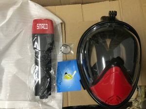 New Premium 2017 Scuba Diving Equipment Mask Full Face 180 Degree Snorkel Mask H2O Ninja Mask for Gopro Camera Adults pictures & photos