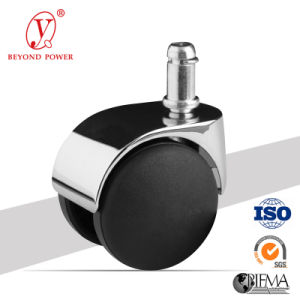 50mm PVC Office Chair Castor Rollen Furniture Twins Swivel Castor Wheel Cabinet Caster Caster Wheel Stainless Bracket Caster pictures & photos