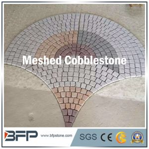Multicolor Meshed Cobblestone for Exterior Paving and Car Parking Area pictures & photos