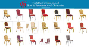 Metal Frame Cloth Cushion/Back Banquet Chair pictures & photos