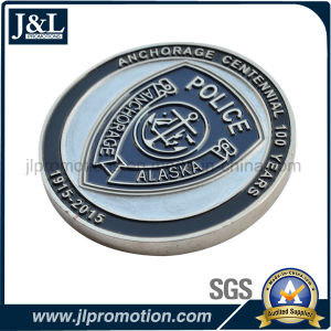 Customer Design Die Struck Copper Metal Coin with Soft Enamel pictures & photos