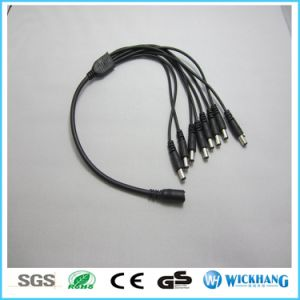 DC 1 Male to 2/3/4 Female Power Plug Connector Cable for LED Strip CCTV Camera pictures & photos