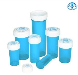 Light Blue Push Turn Plastic Airtight Weed Vials pictures & photos