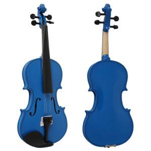 Practice Blue Colour Plywood Beginner Kids Violin OEM ODM pictures & photos