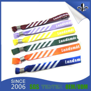 Hot Sale Cheap Custom Polyester Woven Fabric Wristbands for Sports pictures & photos