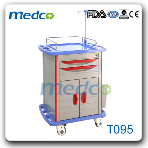 Hospital Medical ABS Emergency Trolley pictures & photos