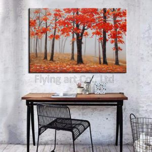 100% Hand-Painted Canvas Oil Painting Wall Art for Trees pictures & photos