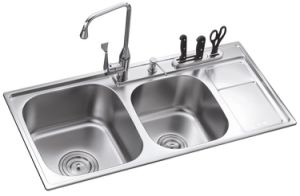 L5709 S. S Welding Double Bowl Sink pictures & photos