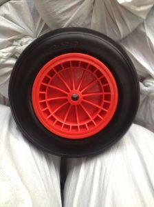 350-8 Flat Free PU Foam Wheel pictures & photos