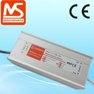 Lpv-75-12, 75W 12V 6.3A LED Power Supply/LED Driver/Waterproof Power Supply