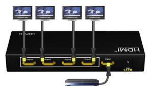 HDMI Splitter Box 1 X 4 Full HDMI Support 3D (HDSP0104M)