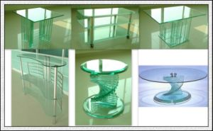 8mm Clear Toughened Glass with Round Edges for Table Top pictures & photos