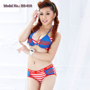 New York Campus Mood Striped Underwear Set (BS-010)
