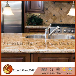 Natural Black Elegant Polished Granite Kitchen Countertop pictures & photos