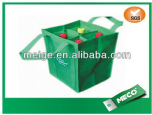 Made in China Accept Custom New Good Cheap Eco Durable 6 Bottles Non Woven Wine Bag (MECO500) pictures & photos