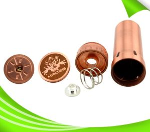 2014 Mechanical Mod Vape 26650 Red Copper Hades Mod