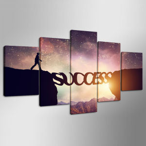 "5 Panel HD Printed Modular Canvas Painting ""Success"" Canvas Print Art Modern Home Decor Wall Art Picture for Living Room Mc-155 pictures & photos"